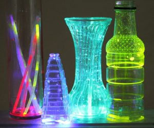Glow jars made using glowsticks are very bright initially, but dim quickly.