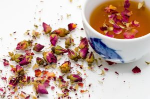 The easiest way to make rose water is to make tea from rose petals. However, distillation yields a much finer product. (Marco Secchi)