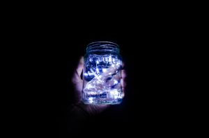 Use LED fairy lights to make instant, bright glow jars. (Petrison Ionel)