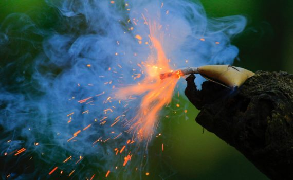 To light fireworks safely, know which ones shouldn't be held in your hand and be aware of flammable tree and buildings. (Nandhu Kumar)
