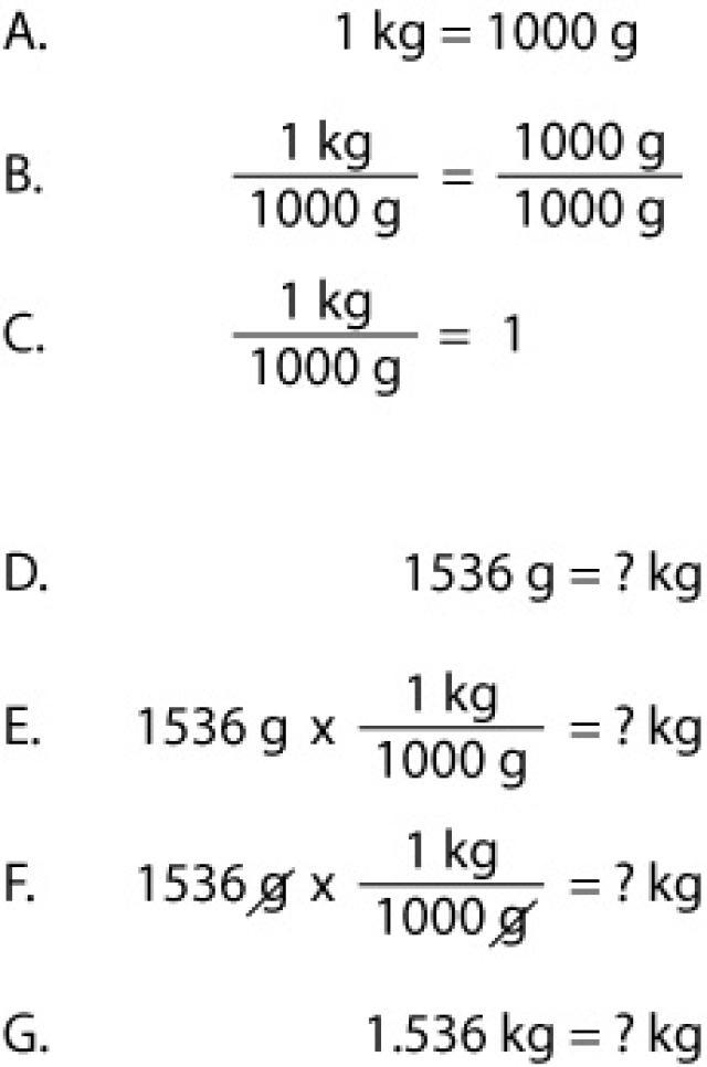Grams to Kilograms Conversion Examples