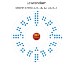 Electron Levels of a Lawrencium Atom