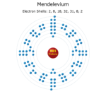 Electron Levels of a Mendelevium Atom