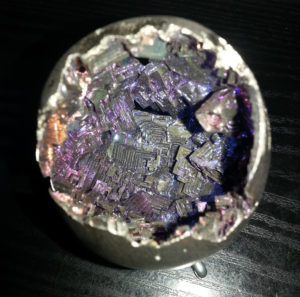 Your first attempt to grow bismuth crystals will probably look something like this. (Image: aatze78)
