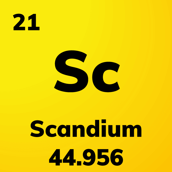 Scandium Element Card