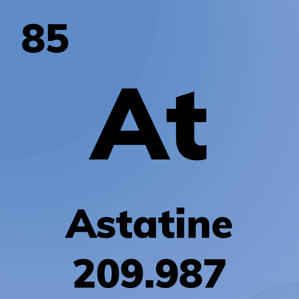 Astatine Element Card