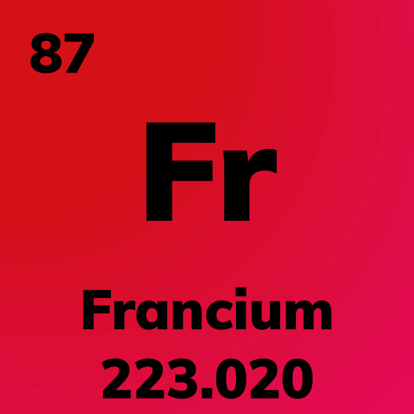 Francium Element Card