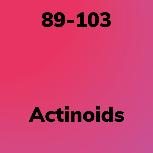 Placeholder card for the actinoids group.