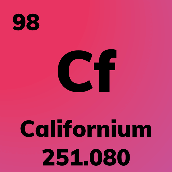 Californium Element Card
