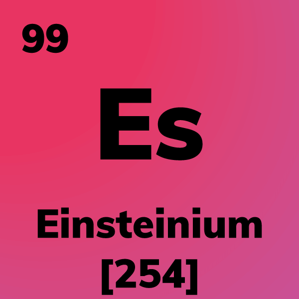 Einsteinium Element Card