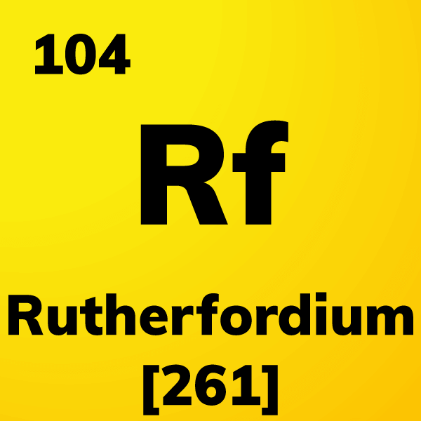 Rutherfordium Element Card