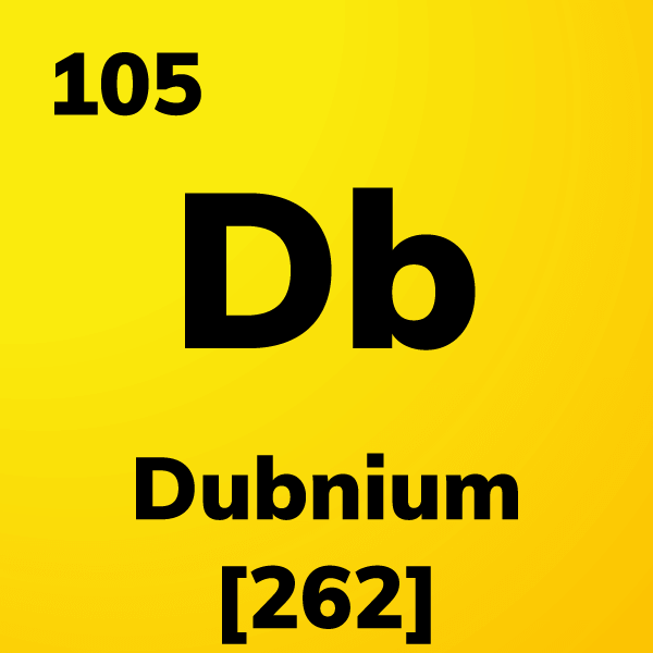 Dubnium Element Card