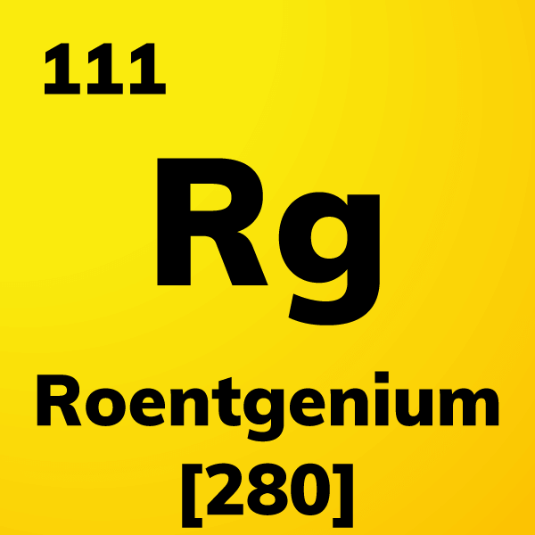 Roentgenium Element Card