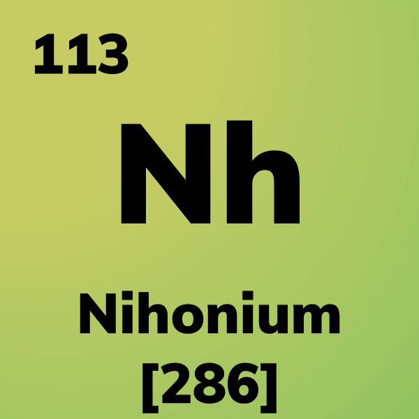 Nihonium Element Card