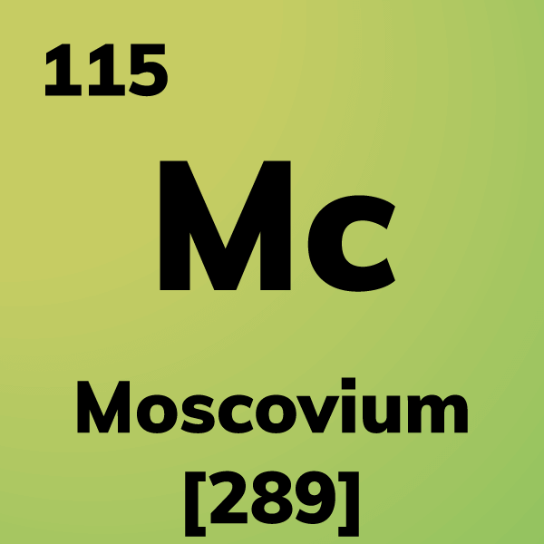 Moscovium Element Card