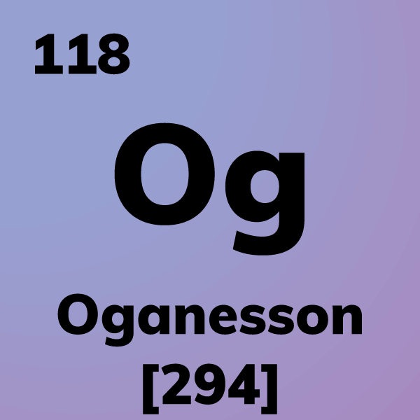 Oganesson Element Card