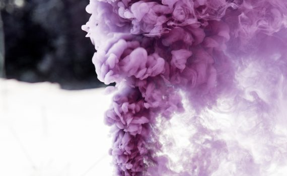 The nitrogen triiodide demonstration produces a loud sound and a cloud of purple vapor.