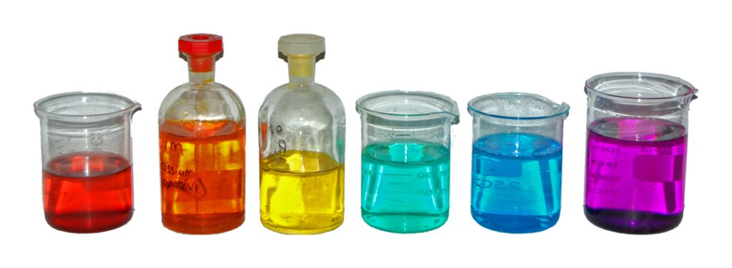 The transition metals are known for their ability to form colorful aqueous solutions. (Benjah-bmm27)