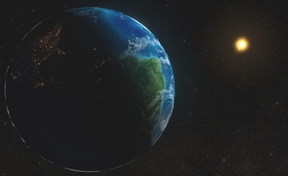 The average distance between the Earth and the Sun is about 93 million miles. (NASA)