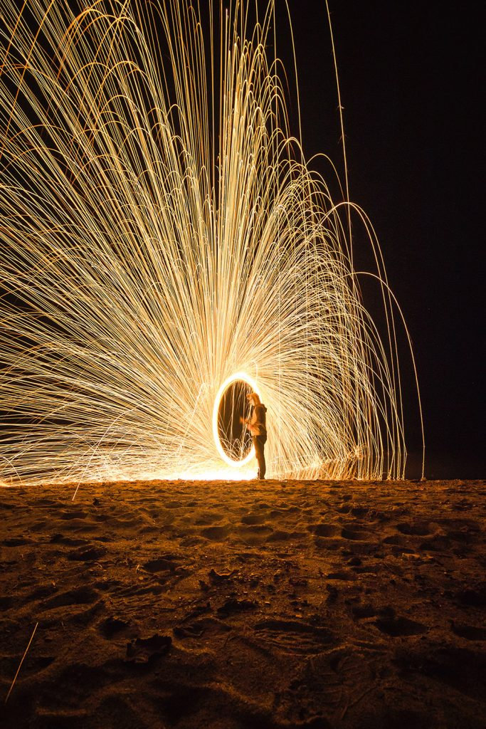 Steel wool sparklers are super easy to make and stunning to watch.
