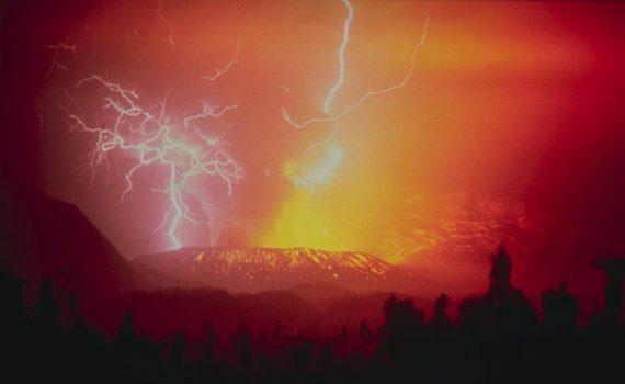 Galungung volcanic eruption