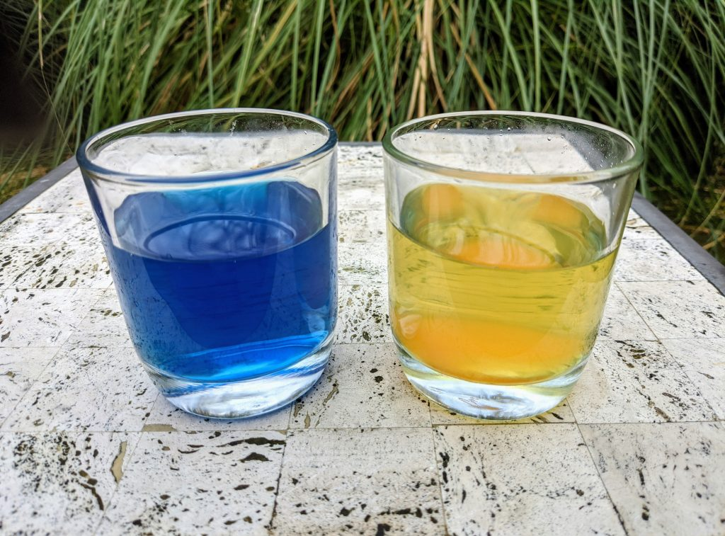 Gatorade and drain cleaner color change