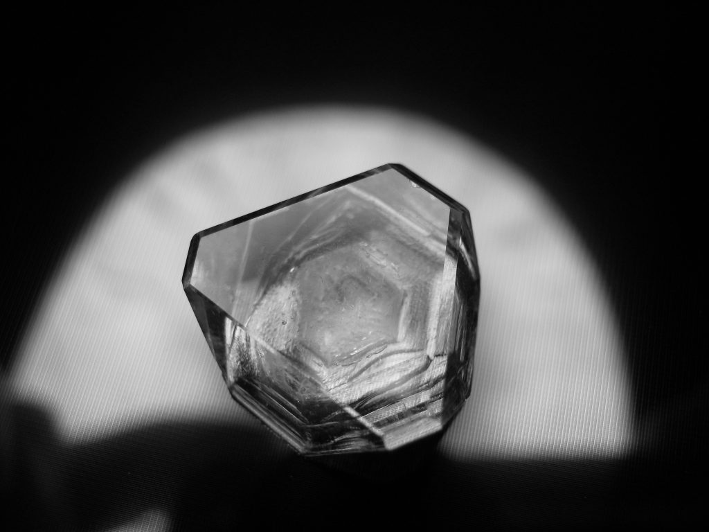 A seed crystal is a small crystal used to promote growth of a larger one.