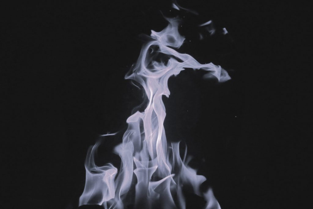 Magnesium burns with a white fire.