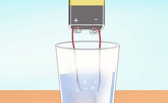 Electrolysis of water is one easy way to make hydrogen gas.