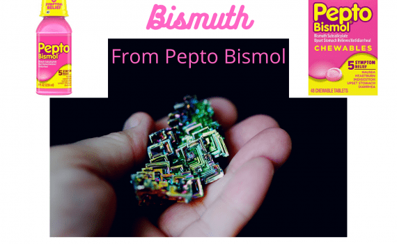 You can use heat to obtain pure bismuth metal from Pepto Bismol.