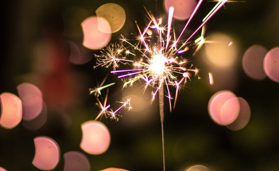 A sparkler is a type of firework that produces sparks but does not explode.