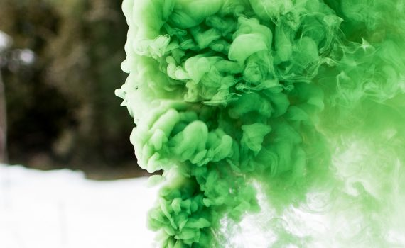 Make a colored smoke bomb using an organic dye.