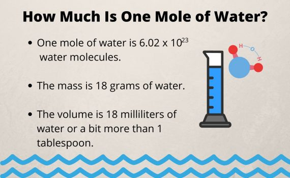 How Much Is One Mole of Water? Mass and Volume