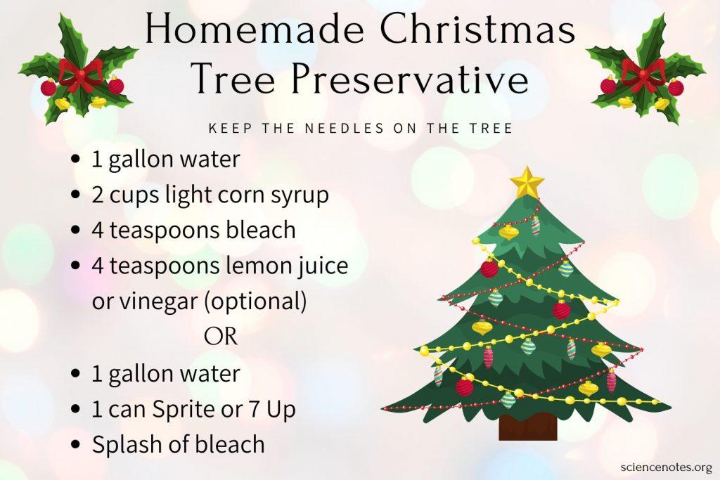How to Make Homemade Christmas Tree Food or Preservative