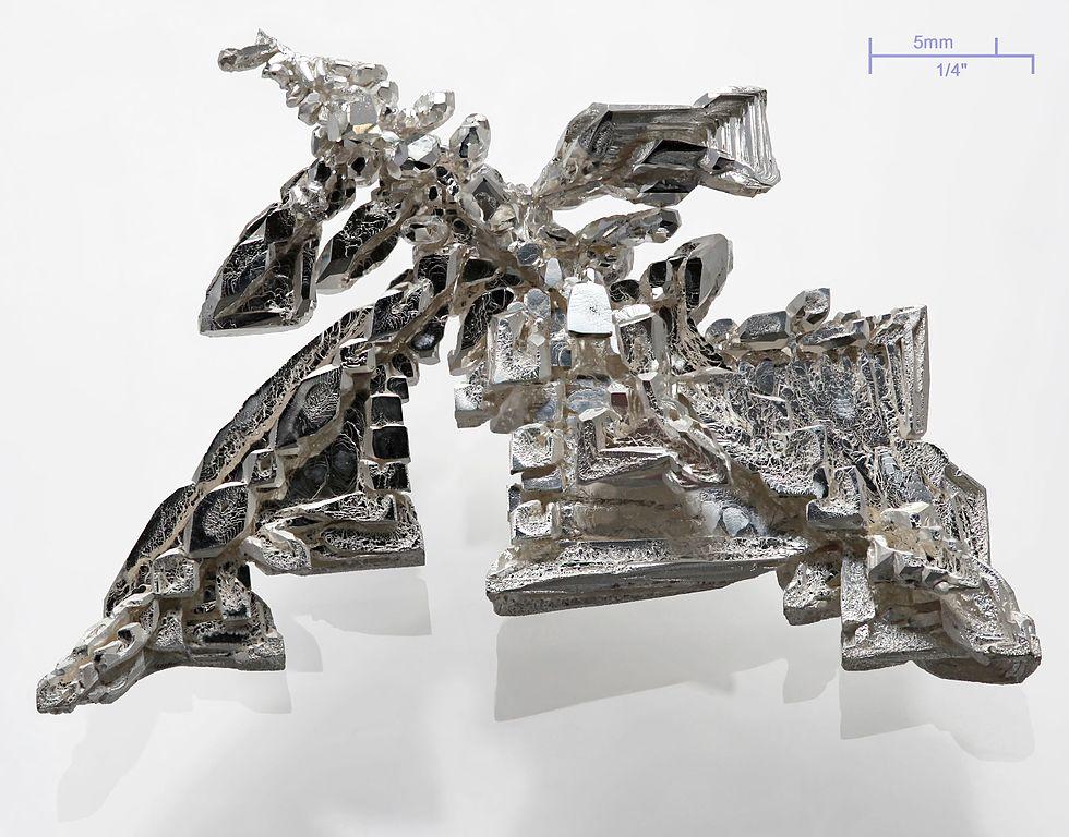 Pure Silver Metal Crystal