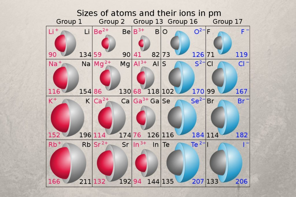 Relative Atom Sizes - Atomic and Ionic Radii