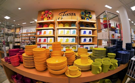 Modern Fiestaware is still colorful, but it's not radioactive.
