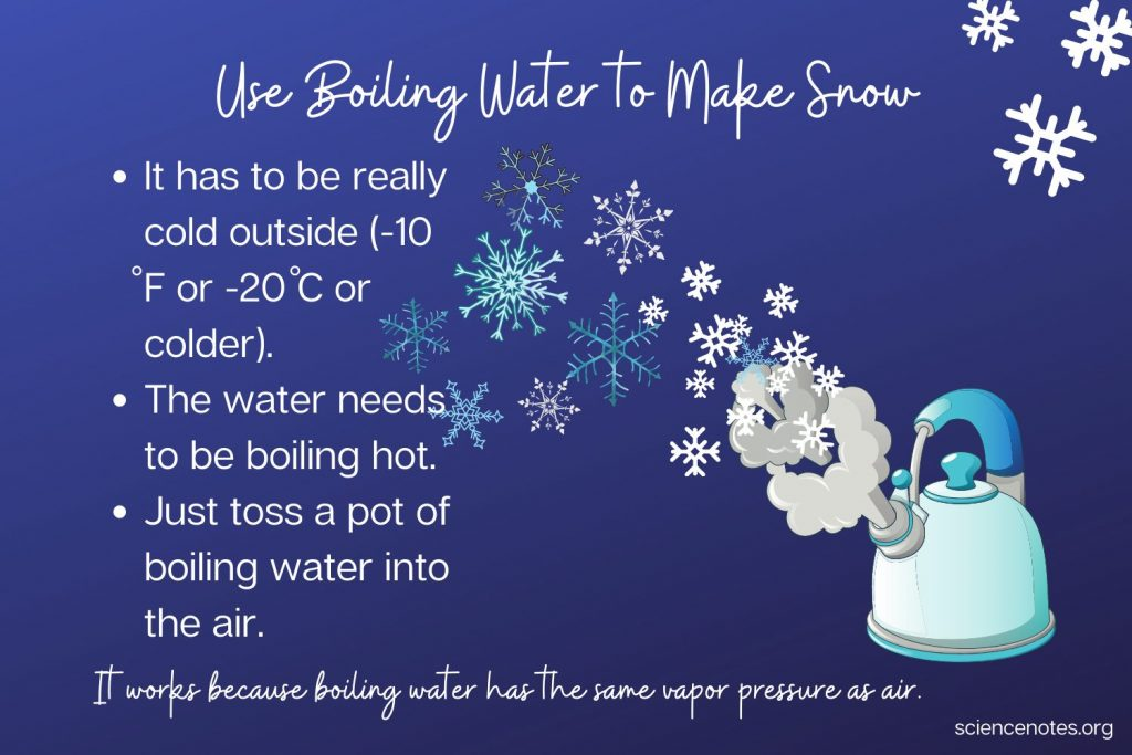 Use Boiling Water to Make Snow