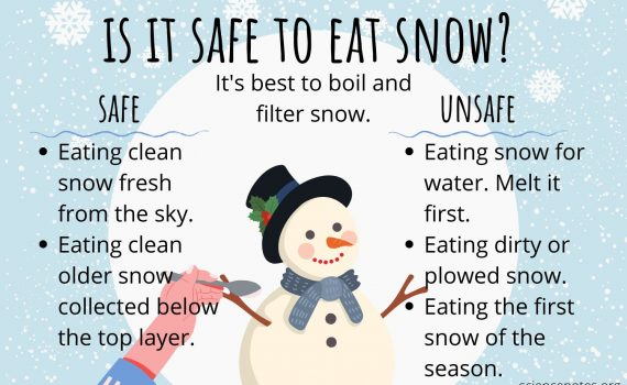 When it is and is not safe to eat snow