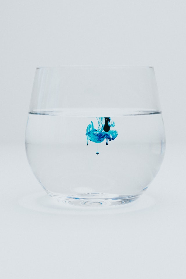 Blue Water Firework in a Glass
