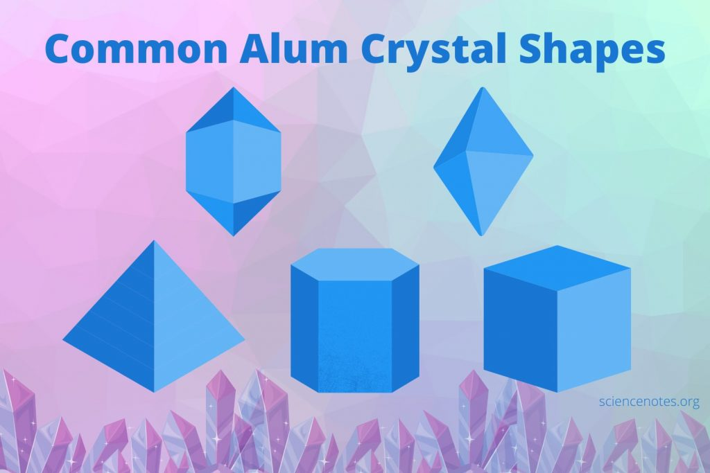 Common Alum Crystal Shapes